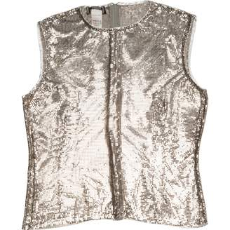Gianni Versace Silver Metal Tops