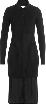 DKNY Layered Dress with Merino Wool