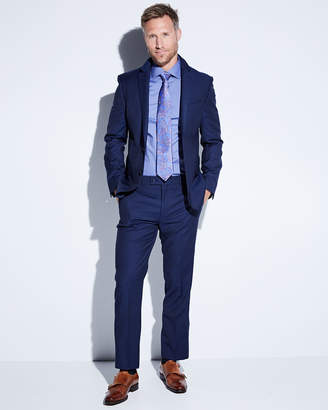 DKNY Slim-Fit Tic Weave Suit, Blue
