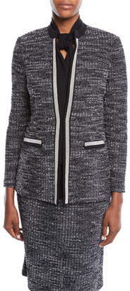 Misook Plus Size Tweed Knit Jacket