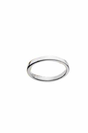 Jennifer Zeuner Thin Band Rosa Ring in Silver