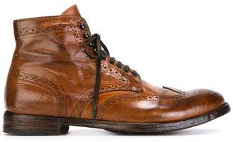 Officine Creative distressed brogue boots
