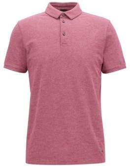 BOSS Hugo Cotton Pique Polo Shirt, Slim Fit Proses S Dark Purple
