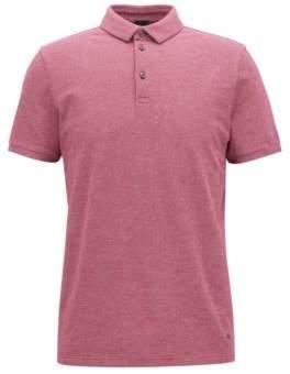 BOSS Hugo Cotton Pique Polo Shirt, Slim Fit Proses XL Dark Purple