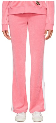 Juicy Couture - Venice Beach Patches Microterry Del Rey Pants Women's Casual Pants $88 thestylecure.com