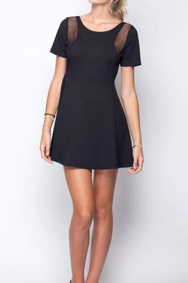 Gentle Fawn Mesh Cutout Dress
