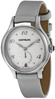 Montblanc Princesse Grace de Monaco White Dial Leather Ladies Watch
