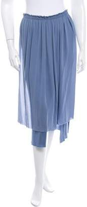 Raquel Allegra Silk Pleated Midi Skirt