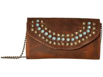 Leather Rock Wanda Crossbody Wallet