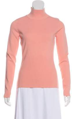 Diane von Furstenberg Knit Turtleneck Top Pink Knit Turtleneck Top