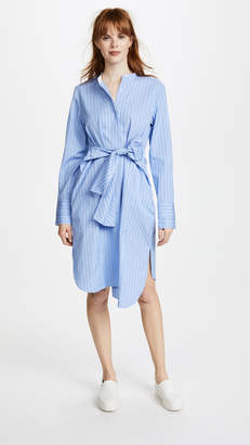 DAY Birger et Mikkelsen Edition10 Striped Stand Collared Shirtdress