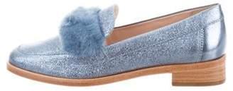 Loeffler Randall Greta Round-Toe Loafers w/ Tags metallic Greta Round-Toe Loafers w/ Tags