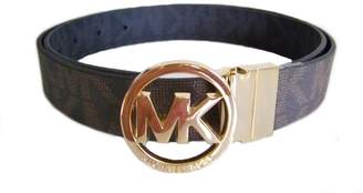 Michael Kors MICHAEL Belt with Silver Logo Plaque