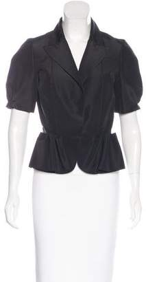 Oscar de la Renta Silk Short Sleeve Jacket w/ Tags