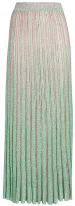 Missoni long knitted pleated skirt