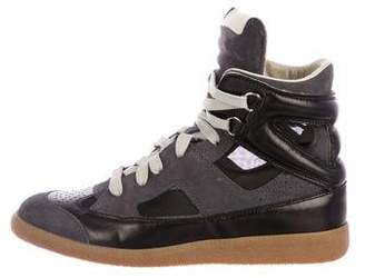 Maison Margiela Leather Wedge Sneakers