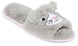 Couture Pj Open Toe Womens Slip-On Slippers