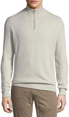 Loro Piana Cashmere Pique Half-Zip Sweater