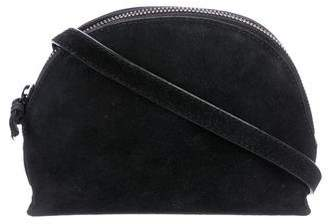 Loeffler Randall Leather-Trimmed Suede Zip Crossbody Bag