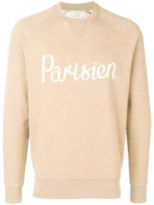 MAISON KITSUNÉ parisien knitted sweatshirt