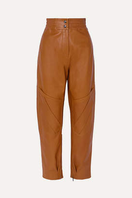 Acne Studios Louiza Leather Tapered Pants - Light brown