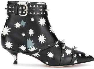 RED Valentino RED(V) printed ankle boots