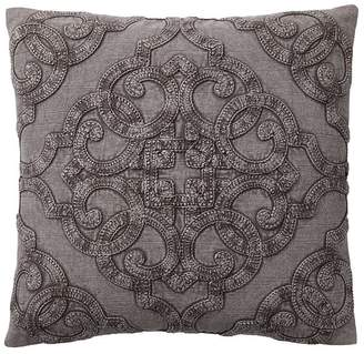 Pottery Barn Drew Embroidered Pillow Cover - Gray
