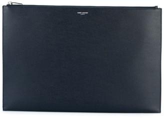 Saint Laurent Classic Paris zip fastening tablet case