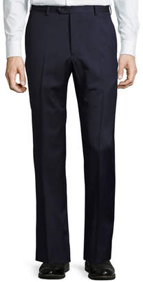 Armani Collezioni Micro-Textured Wool Trousers, Navy