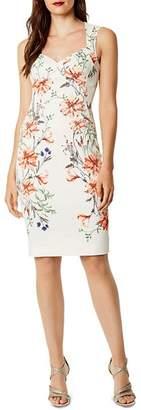 Karen Millen Floral Print Cutout Sheath Dress
