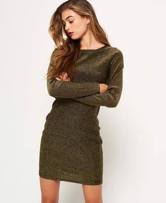 Superdry Metallic Zip Back Knit Dress