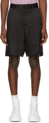 Versace Black Silk Cargo Shorts