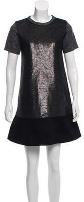 Moncler Short-Sleeve Virgin Wool Dress