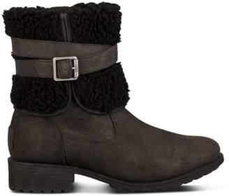 1d8a89cc6a9 UGG Black Decorative Buckle Women's Boots - ShopStyle