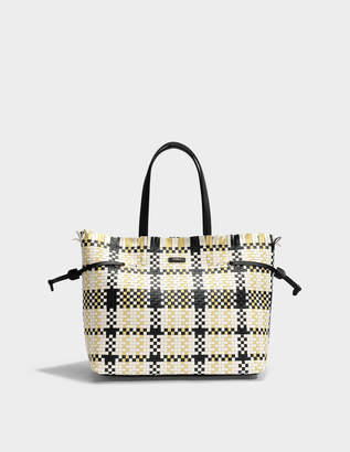 Furla Stacy Casanova Medium Tote Bag in Onyx, Petalo and Cedro Calfskin