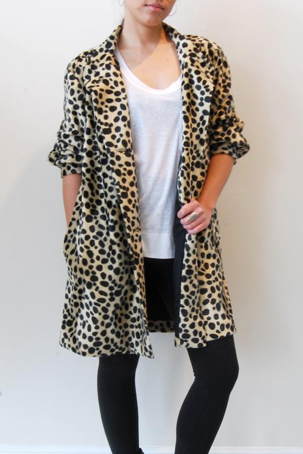 Satine - Leopard Faux Coat