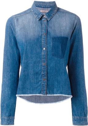Calvin Klein Jeans raw hem denim shirt $97.96 thestylecure.com