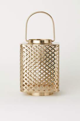 H&M Large Metal Candle Lantern - Gold
