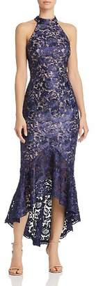 Aqua Floral Lace Midi Dress - 100% Exclusive