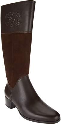C. Wonder Tall Boots with Embossed Detail - Mira