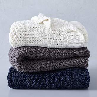 west elm Solid Mixed Knit Throw