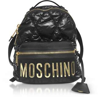 Moschino Quilted Nylon Signature Backpack
