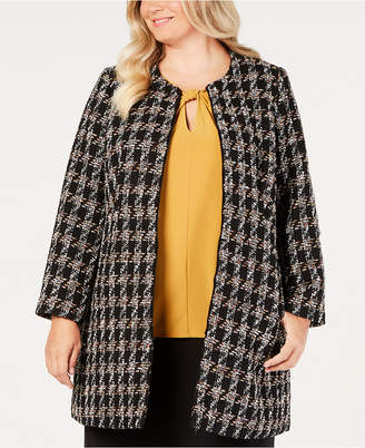 Nine West Plus Size Tweed Topper Jacket