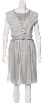 Chanel Metallic Tweed Dress Set