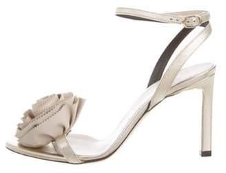 Nina Ricci Metallic Leather Wrap-Around Sandals w/ Tags Metallic Metallic Leather Wrap-Around Sandals w/ Tags