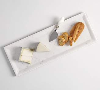 Pottery Barn White Marble Long Cheese Board