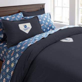 Pottery Barn Teen MLB Patch Duvet Cover, Full/Queen, Navy, Marlins Florida