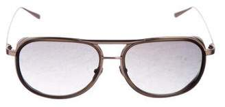 Linda Farrow Aviator Tinted Sunglasses
