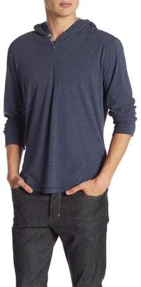 Lucky Brand Long Sleeve Saturday Stretch Button Hoodie