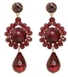 Violeta BY MANGO Flower beaded earrings